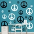 Black And White Peace Signs REALBIG Wall Decal