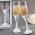 Bling Heart Design Toasting Flutes