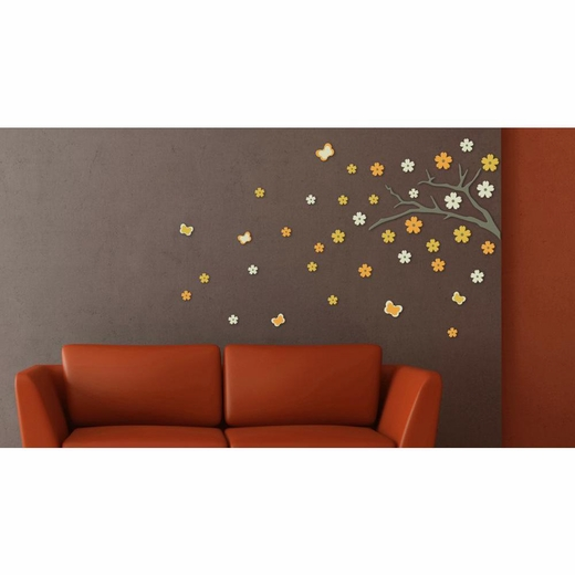 Blossom Branch 3D Foam Decal