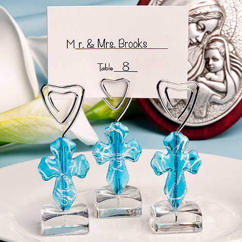 Blue Cross Design Place Card Holders