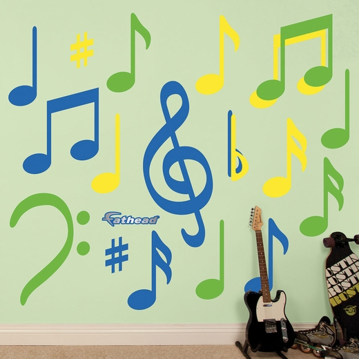 Blue Green Yellow Musical Notes Collection