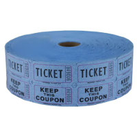 Blue Single & Double Raffle Tickets