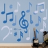 Blues Musical Notes Collection REALBIG Wall Decal