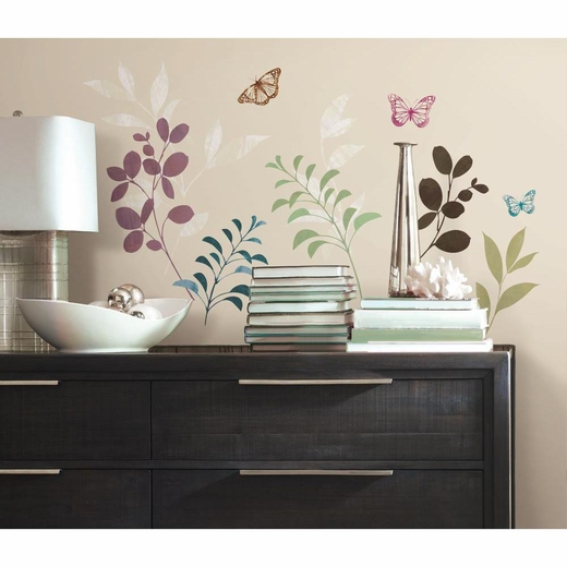 Botanical Butterfly Decal