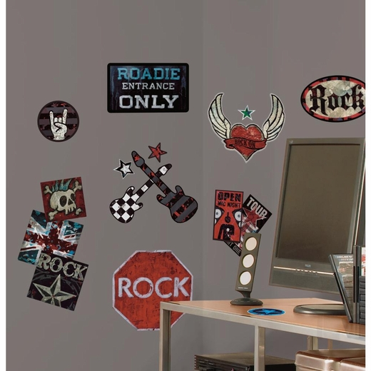 Boys Rock-n-Roll Peel And Stick Decal