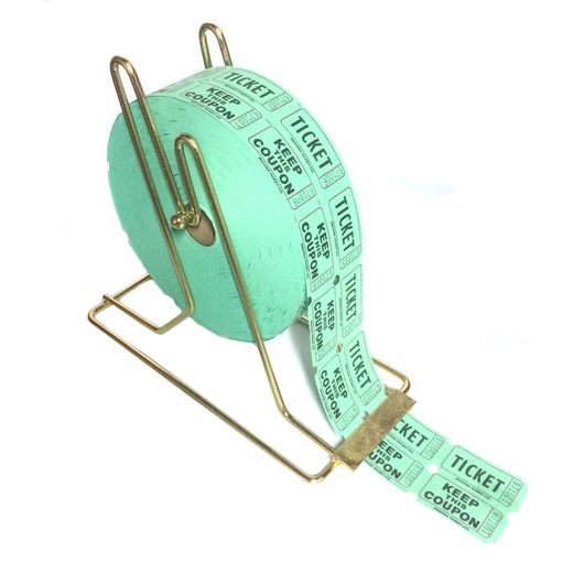Brass Raffle Ticket Roll Holder