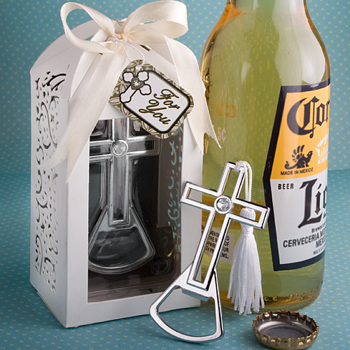 Brilliantly Packaged Cross Bottle Opener
