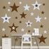 Brown And Light Blue Stars REALBIG Wall Decal