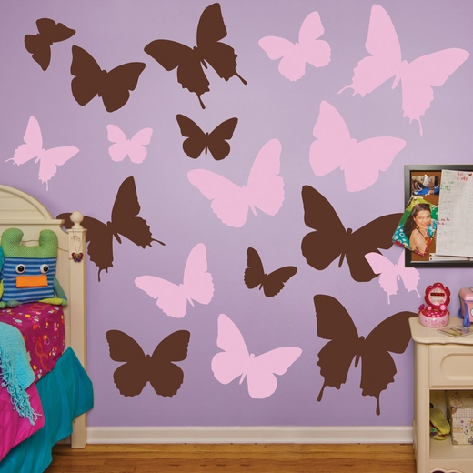 Brown And Pink Butterflies REALBIG Wall Decal