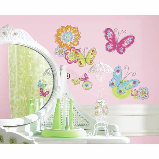 Brushwork Butterfly Decal