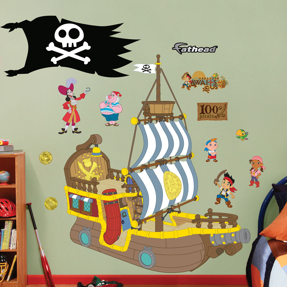 Bucky the Pirate Ship Wall Decal