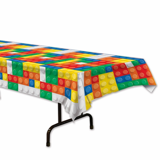 Building Block Plastic Table Cover - Rectangle