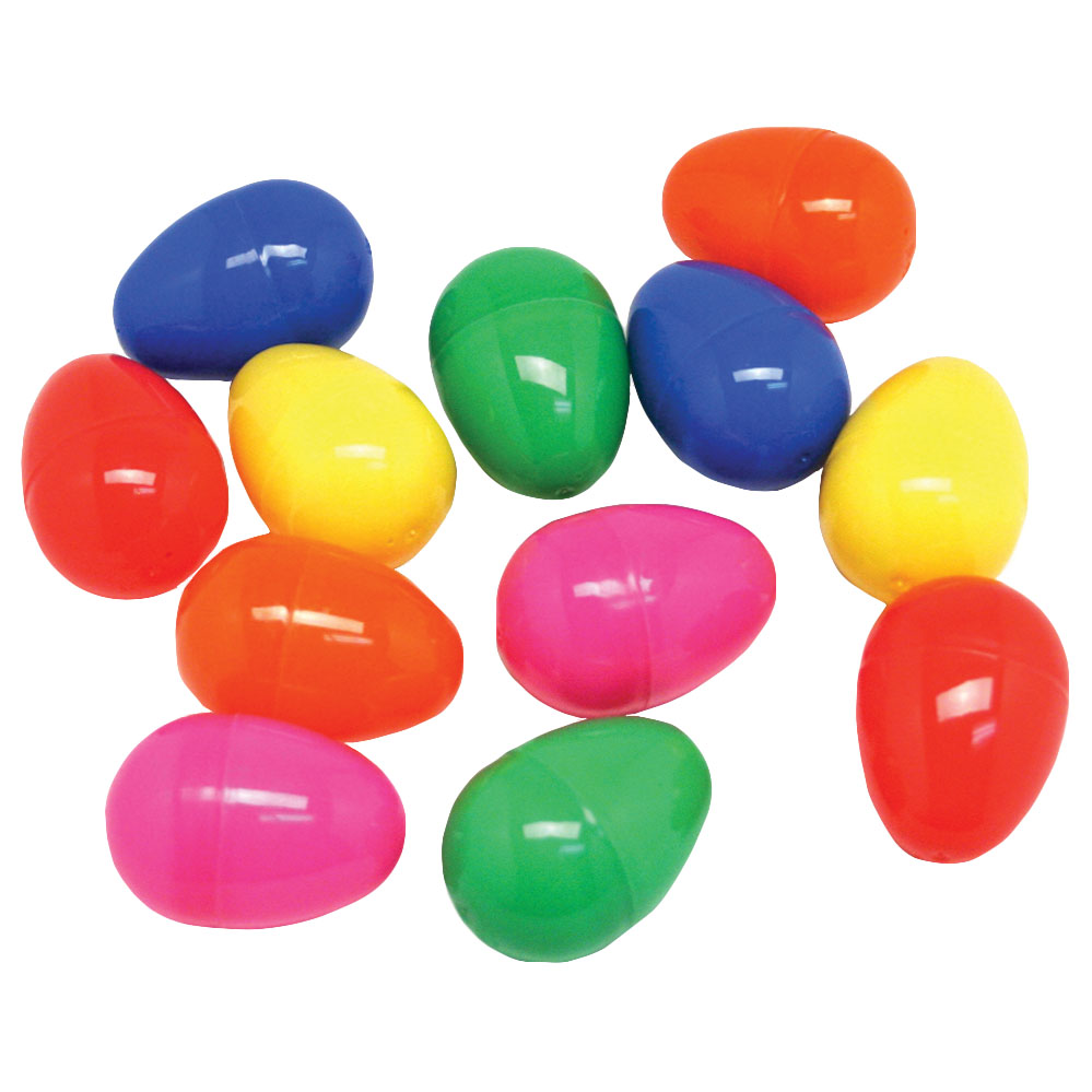 50 Multi Color Plastic Eggs Easter Baby Showers Party Favor Craft New Hinged