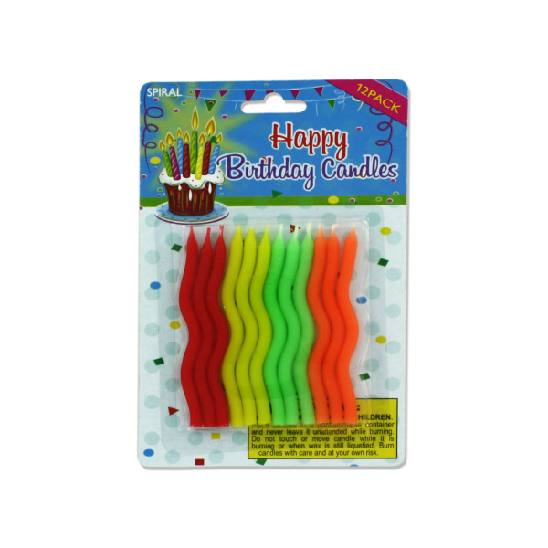 Bulk Twisted Birthday Candles 1