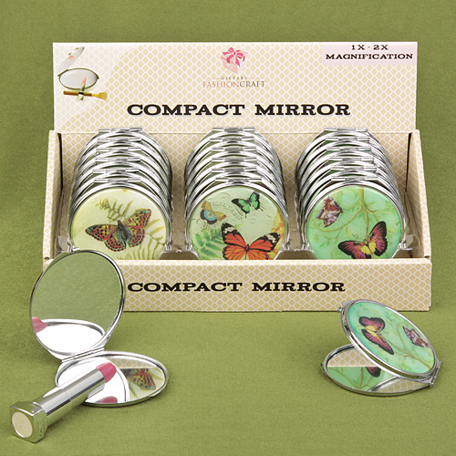 Butterfly Design Mirror Compacts