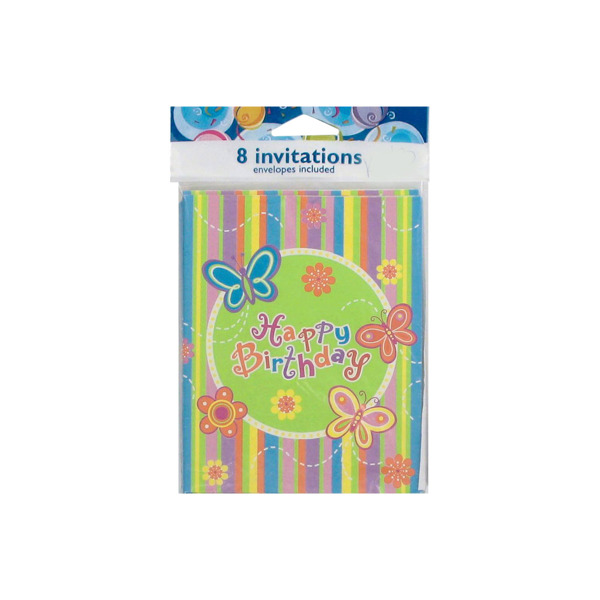 "Butterfly  ""Happy Birthday"" Invitation"