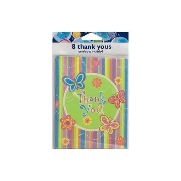 "Butterfly Stripe ""Thank You"" Notes"