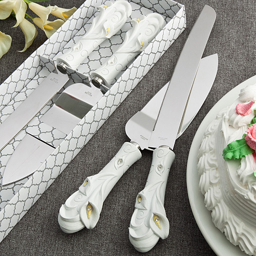 Calla Lily Design Cake Set