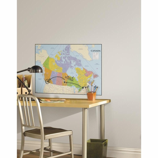 Canada Map Dry Erase Giant Decal