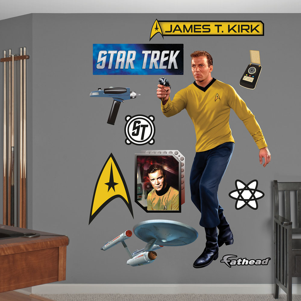 Captain James T. Kirk REALBIG Wall Decal