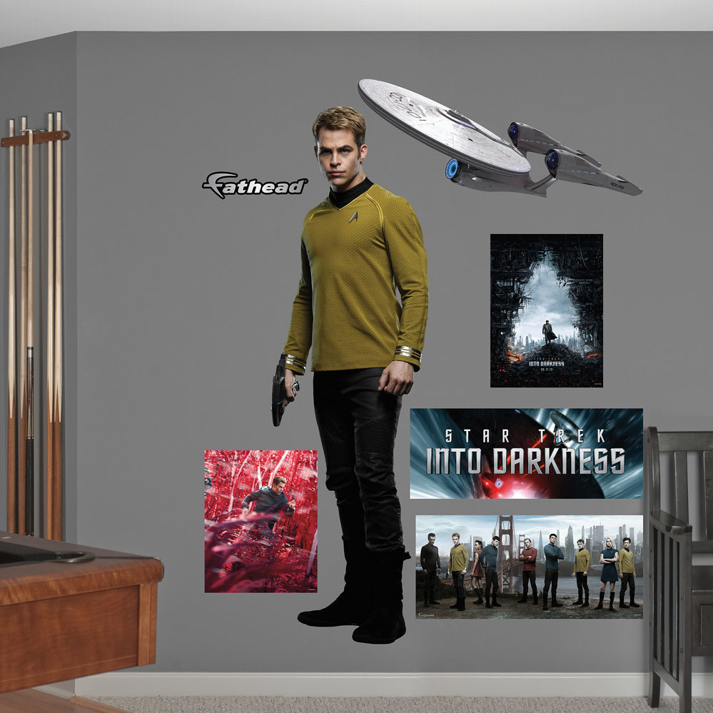 Captain Kirk Star Trek Into Darkness Wall Decal