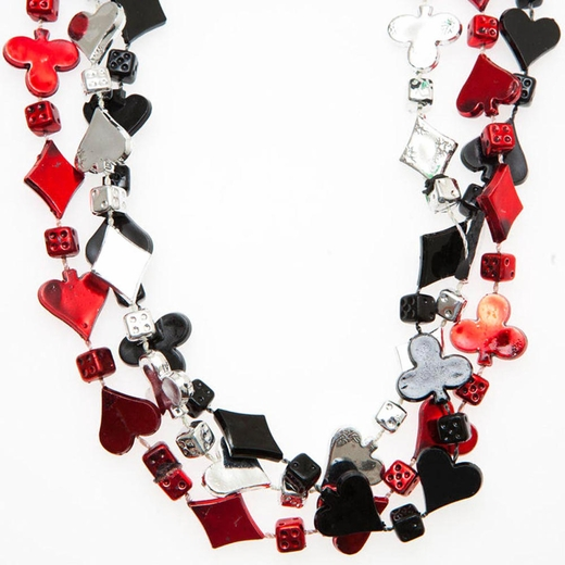 Card Suit Bead Necklaces