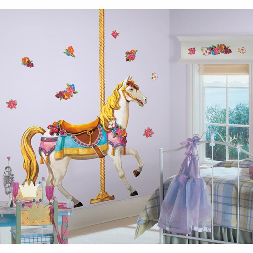 Carousel Horse Peel And Stick Giant Decal