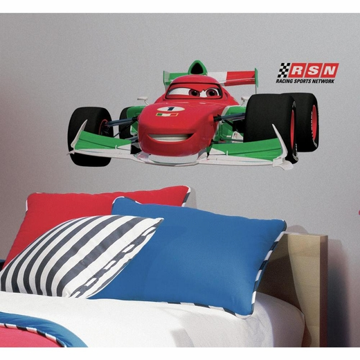 Cars 2 Francesco Peel And Stick Giant Wall Decal