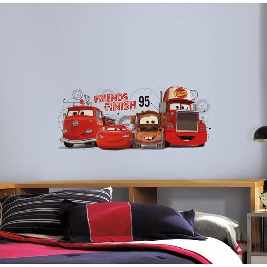 Cars 2 Friends to the Finish Giant Decal