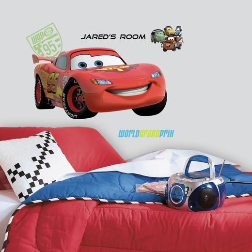 Cars 2 Lightening Giant Decal w-Personalization