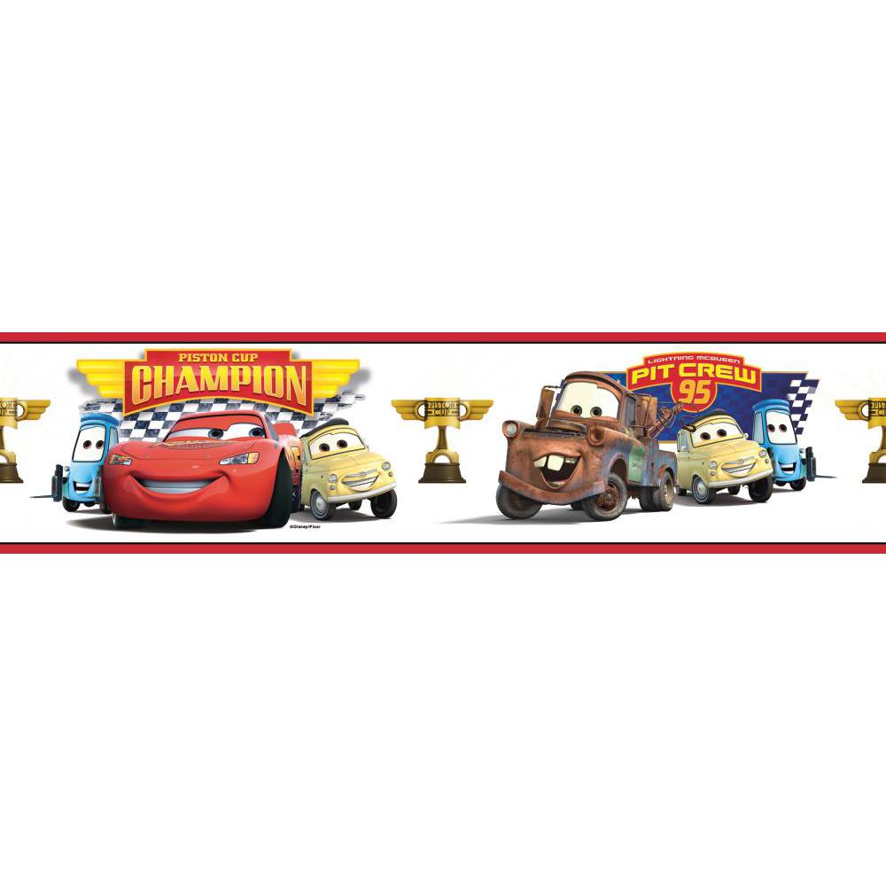 Cars-Piston Cup Champion Peel And Stick Border