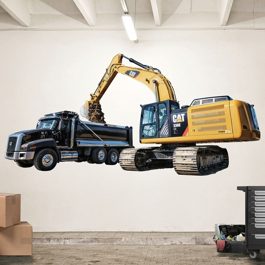 CAT 336E and CT660 Loading REALBIG Wall Decal