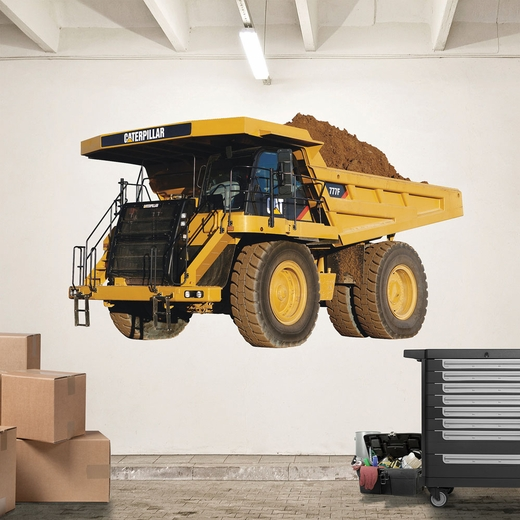 CAT 777 Mining Truck REALBIG Wall Decal