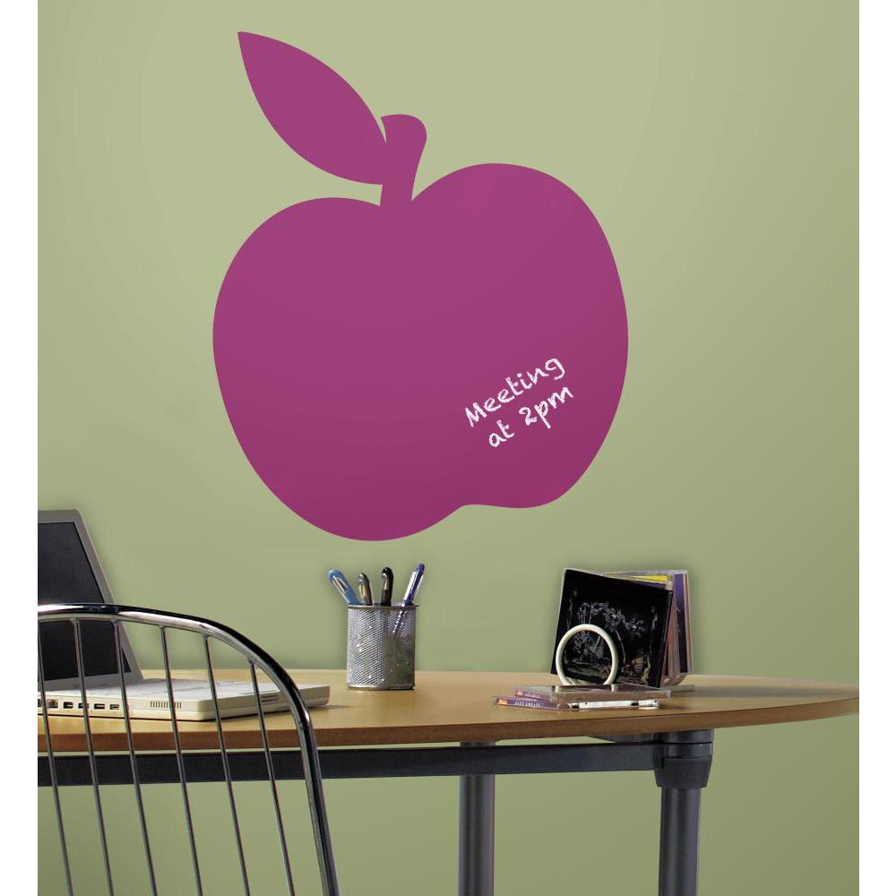 Chalk Apple Peel And Stick Giant Decal