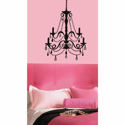 Chandelier w-Gems Peel And Stick Giant Wall Decal