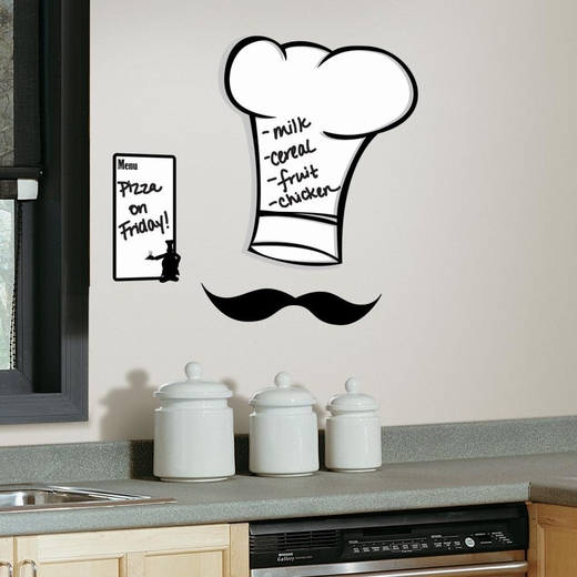 Chefs Hat Dry Erase Peel And Stick Giant Decal