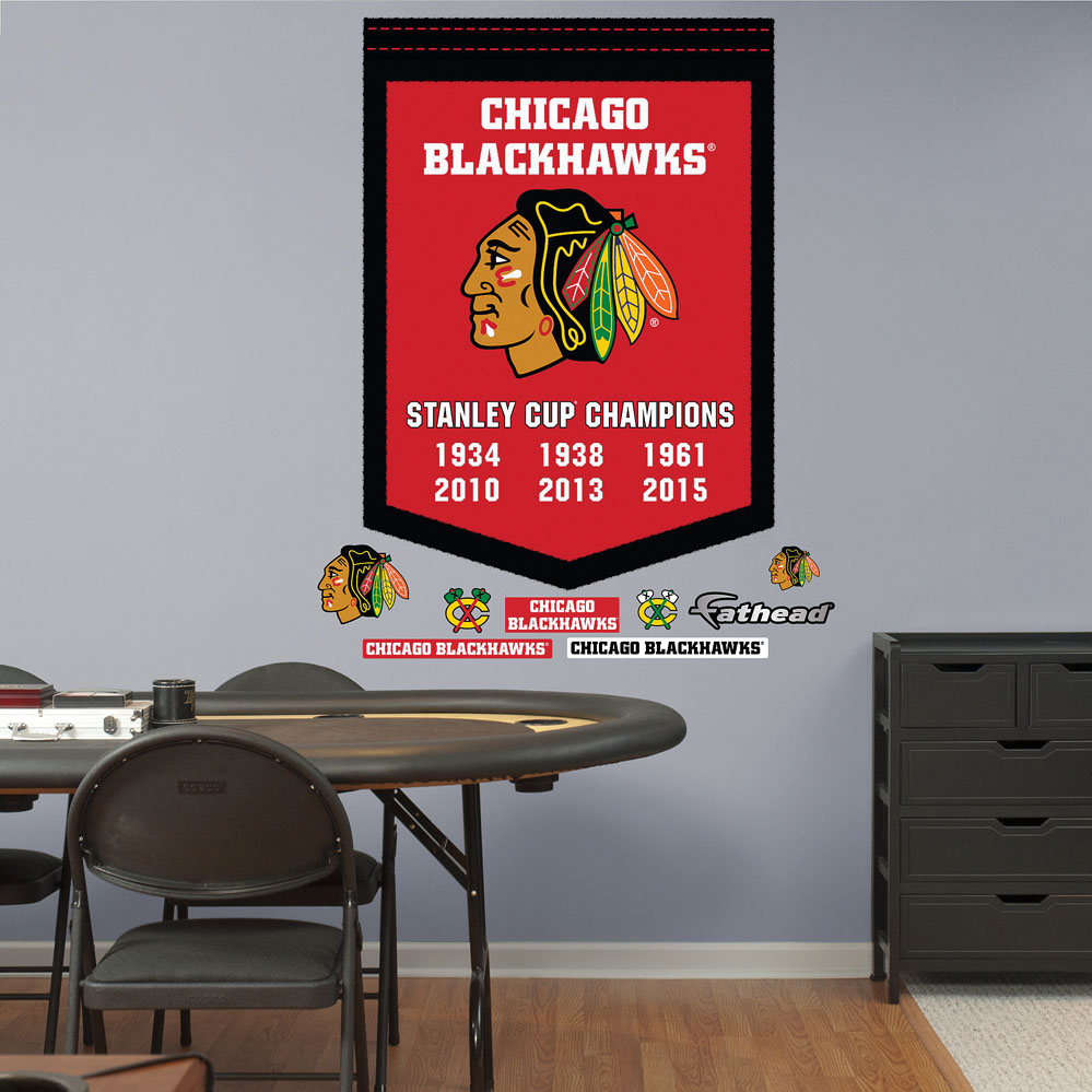 Chicago Blackhawks Stanley Cup Champs Banner