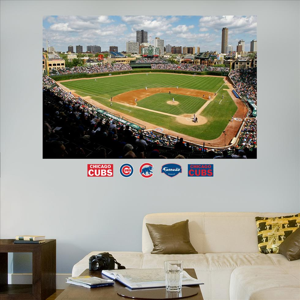 Chicago Cubs Wrigley Field Stadium Mural-Fathead