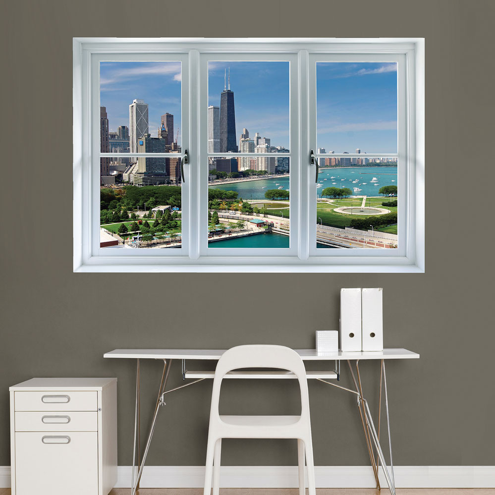 Chicago Skyline: Instant Window REALBIG Wall Decal