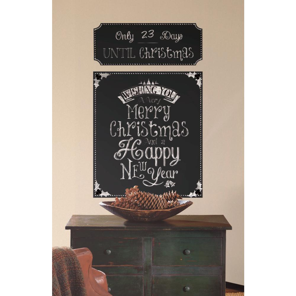 Christmas Countdown Chalkboard Decal