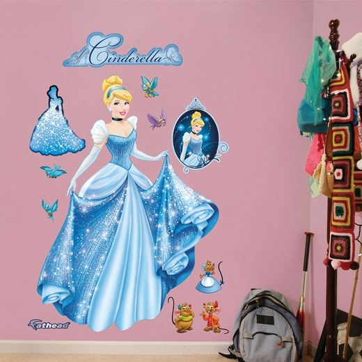 Cinderella From Rags to Riches Wall Decal