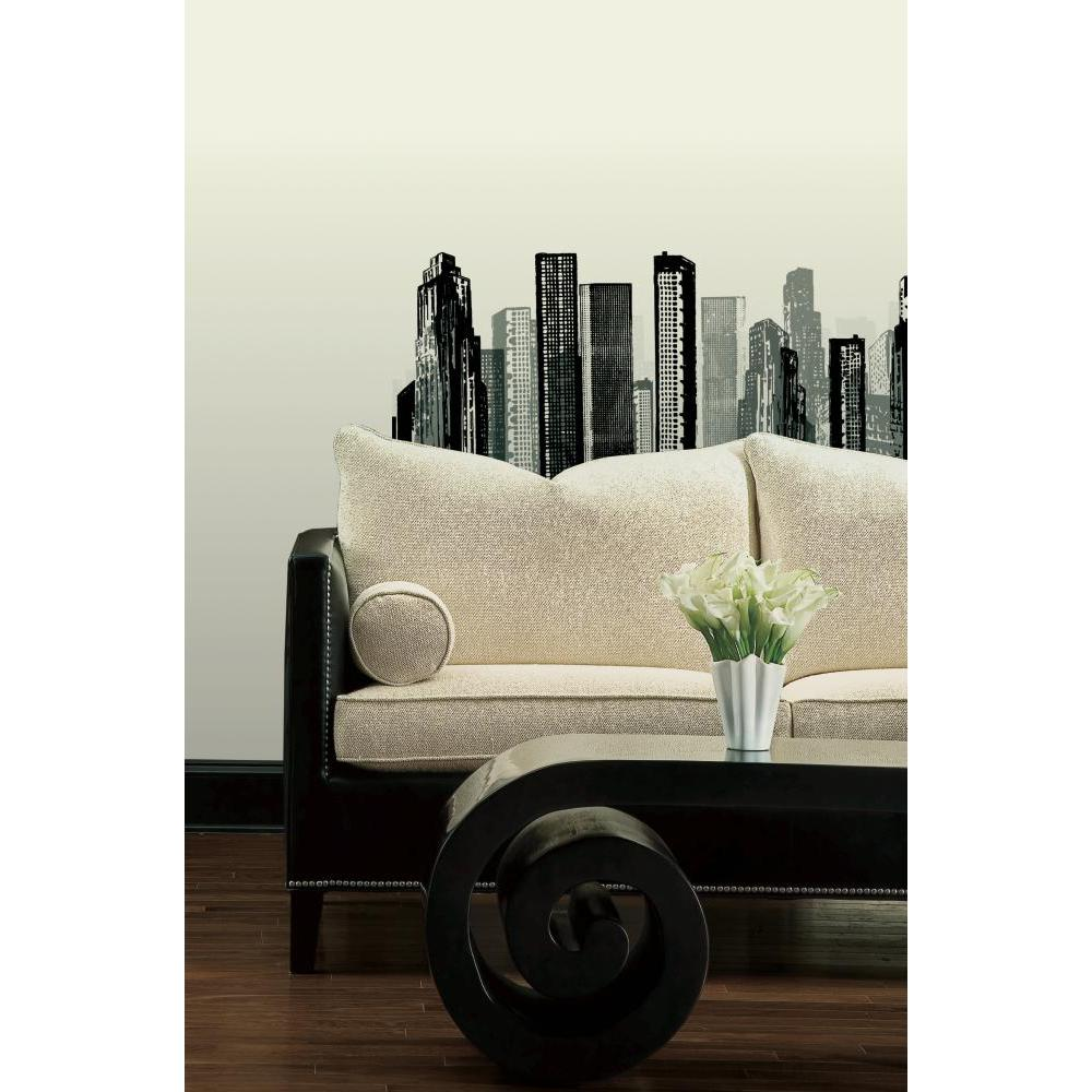 Cityscape Peel And Stick Giant Wall Decal