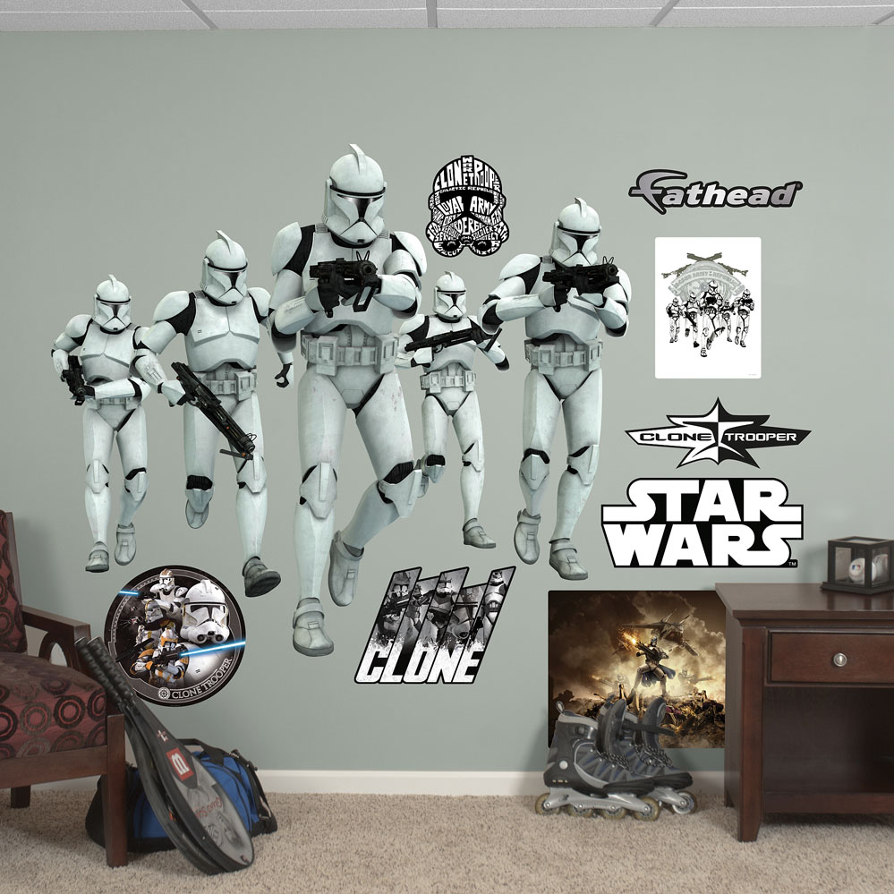 Clone Trooper Group REALBIG Wall Decal