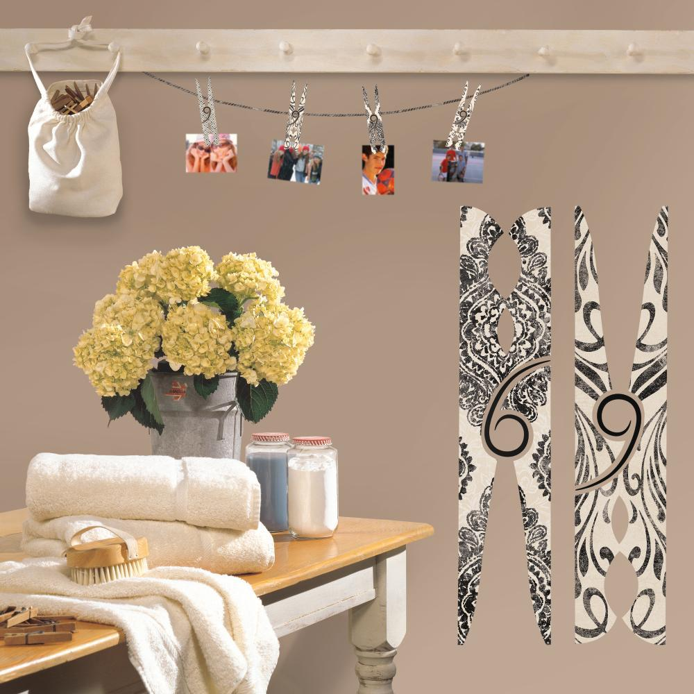 Clothes Pins Giant Decal