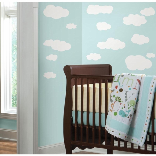 Clouds (White Bkgnd) Peel And Stick Decal