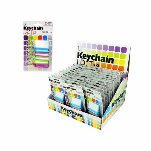 Color Coded Key Chain Tags