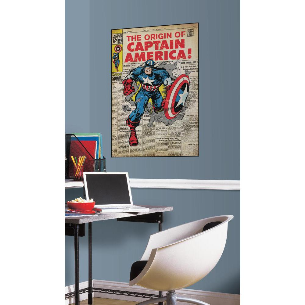 Comic Book Cover-Captain America Comic Cover