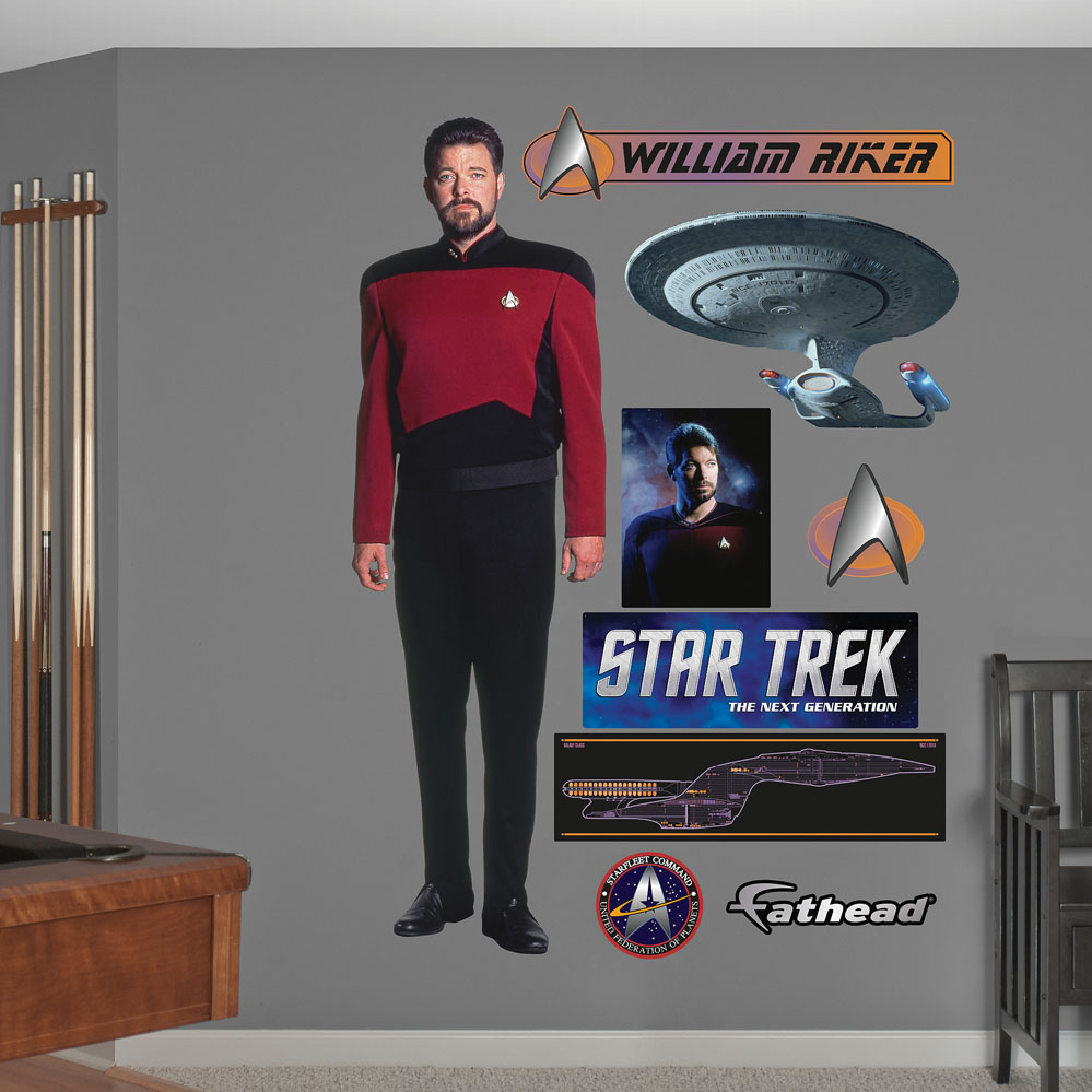 Commander William T. Riker REALBIG Wall Decal