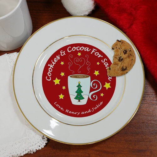 Cookies For Santa-Cocoa Personalized Ceramic Plate