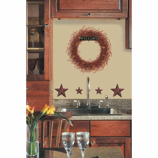 Country Wreath Peel And Stick Giant Wall Decal